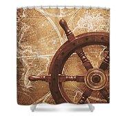 Nautical Exploration  Shower Curtain