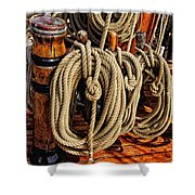 Nautical Knots 16 Shower Curtain by Mark Myhaver
