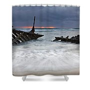 Nautical Skeleton Shower Curtain