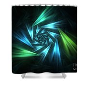 Nautical Spiral Shower Curtain