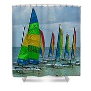 Nautical Travel Shower Curtain