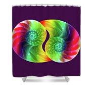 Nautilus Rainbow Shower Curtain