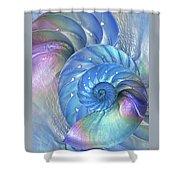 Nautilus Shells Blue And Purple Shower Curtain