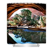 Navajo Arch Reflection Shower Curtain