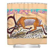 Navajo Horned Monster Shower Curtain