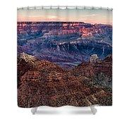 Navajo Point Sunrise Shower Curtain