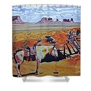 Navajo Ponies Shower Curtain