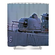 Naval Gun Shower Curtain