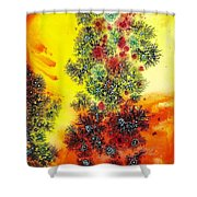 Navidades Galacticas Shower Curtain