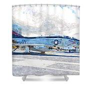 Navy Aircraft Shower Curtain