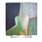 Navy Gray Green Abstract Shower Curtain