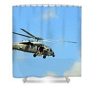 Navy Helicopter Shower Curtain