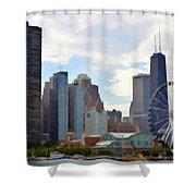 Navy Pier Chicago Illinois Shower Curtain
