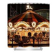 Navy Pier Merry-go-round Chicago Il Shower Curtain