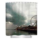 Navy Pier Overcast Shower Curtain