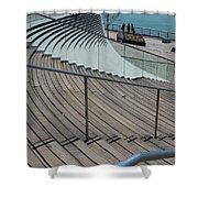 Navy Pier Stairs Shower Curtain