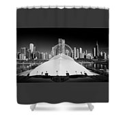 Navy Pier Wheel Shower Curtain