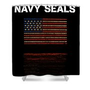 Navy Seals Flag Shower Curtain
