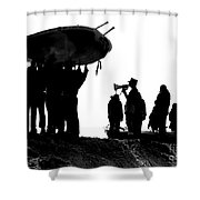 Navy Seals Hold An Inflatable Boat Shower Curtain