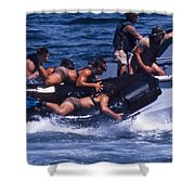 Navy Seals Practice High Speed Boat Shower Curtain