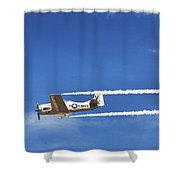 Navy W W I I  T-28 Trainer Shower Curtain