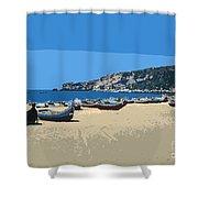 Nazara Beach 4 Shower Curtain
