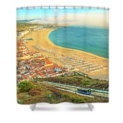 Nazare Skyline Funicular Shower Curtain