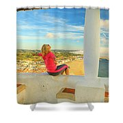 Nazare Viewpoint Woman Shower Curtain
