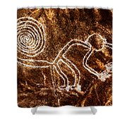 Nazca Monkey Shower Curtain