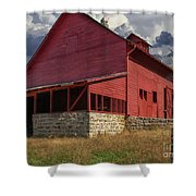 Nc Red Barn Shower Curtain