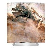 N.c. Wyeth: Ore Wagon Shower Curtain