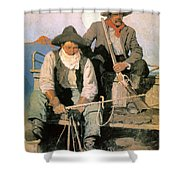 N.c. Wyeth: The Pay Stage Shower Curtain