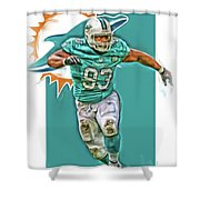 Ndamukong Suh Miami Dolphins Oil Art Shower Curtain