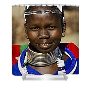 Ndebele Maiden Shower Curtain