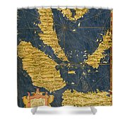 Indochinese Peninsula And Major Islands Of Indonesia Shower Curtain