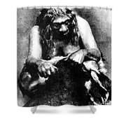 Neanderthal Woman Shower Curtain