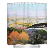 Near Clawddnewydd In North Wales. Shower Curtain
