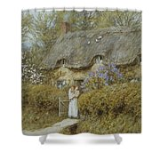 Near Freshwater Isle Of Wight Shower Curtain