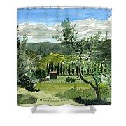 Near San Giovanalle Tuscany Shower Curtain