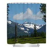 Near Sparwood British Columbia  Shower Curtain