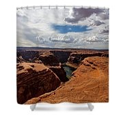 Near The Edge Shower Curtain