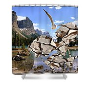 Near The Lake In The Mountain 2 Shower Curtain