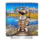 Near The Lake In The Mountain 4 Shower Curtain