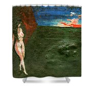 Near Wall II Shower Curtain