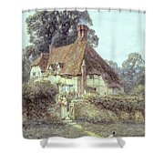 Near Witley Surrey Shower Curtain by Helen Allingham