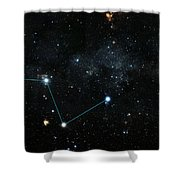 Nearest Exoplanet, Hd 219134 System Shower Curtain