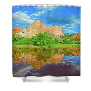 Nearly 2 Million People Rollick In This World-famous City Park Every Year.  Shower Curtain
