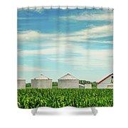 Nebraska Corn Shower Curtain