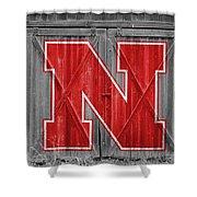 Nebraska Cornhuskers Barn Doors Shower Curtain