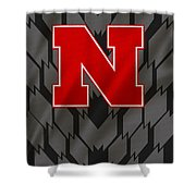 Nebraska Cornhuskers Uniform Shower Curtain